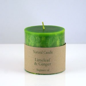 Limeleaf and Ginger Pillar Candle