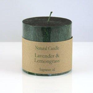 Lavender and Lemongrass Pillar Candle