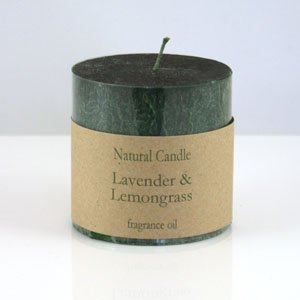 Lavender and Lemongrass Pillar Candle