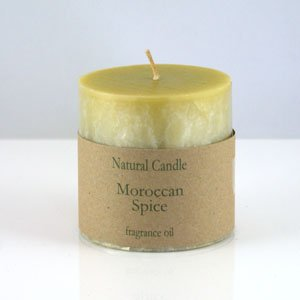 """Heaven Scent Organic Candle - 3x3"""" Pillar Candle in Moroccan Spice scent"""