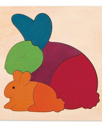Rainbow rabbit puzzle