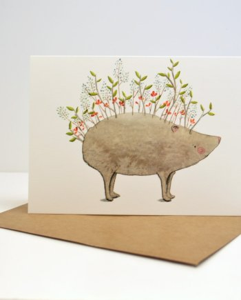 Hedgehog Card by Sara Rhys