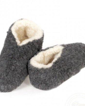 Yoko Skiper Wool Booties - Graphite