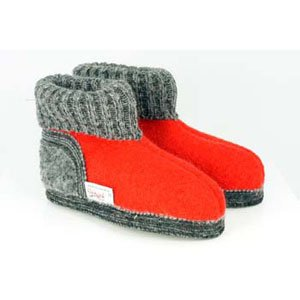 Wesenjak Austrian Slipper Boot - Red