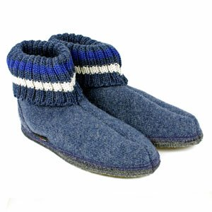 Haflinger Slipper Boot Paul - Jeans Blue