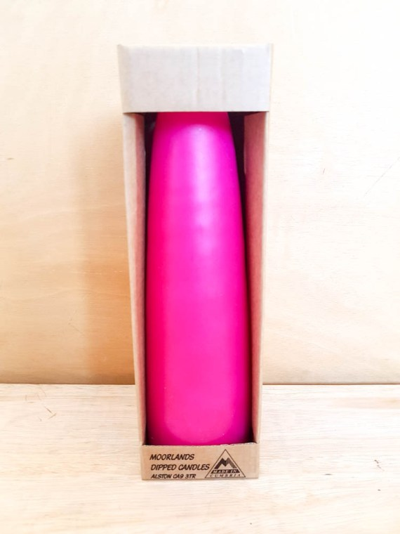 Moorlands Super Giant Stubby Pink, by Moorlands Dipped Candles