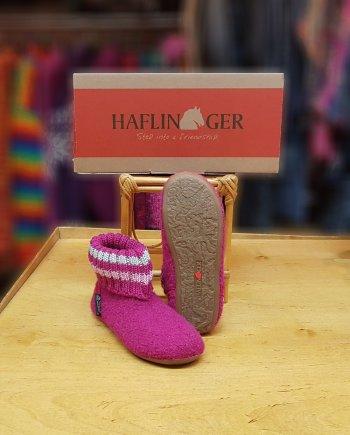 Haflinger Childrens Slipper Boot Pablo Cardinal