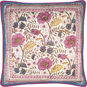 Block Printed Cushion Cover- Rousseau