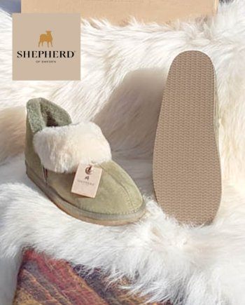Shepherd slipper Karin olive/chestnut