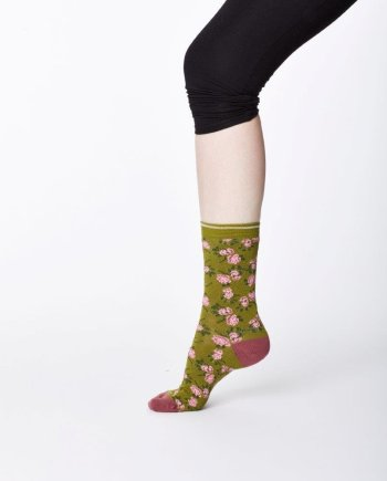 Thought Cottage Sock Olive