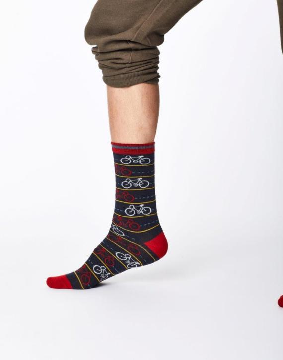 Thought Cycle Sock Navy