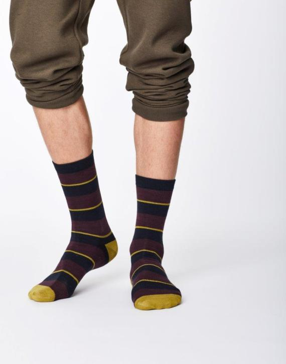 Thought Elfield Sock Aubergine