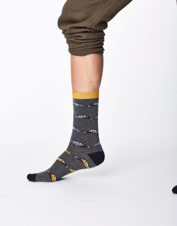 Thought Classic Car Sock Mid Grey