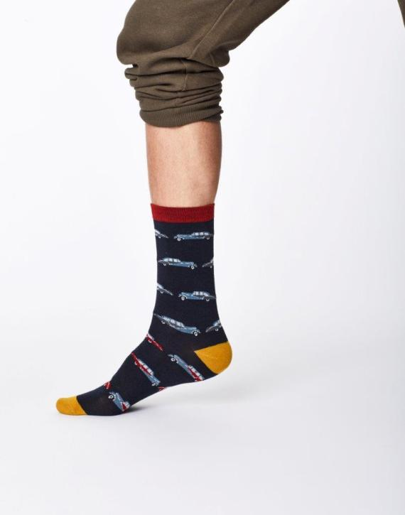 Thought Classic Car Sock Navy