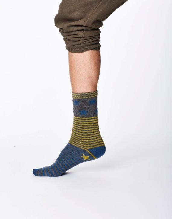 Thought Starry Sock Mid Grey