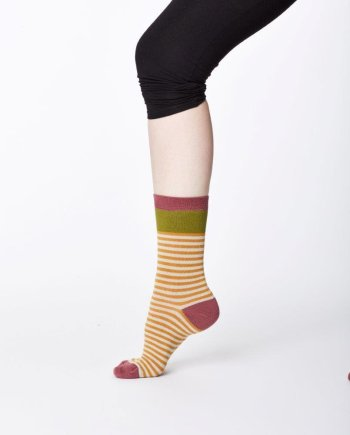 Thought Walla sock Mustard