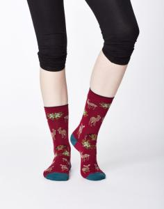 Thought Renko Sock Cranberry