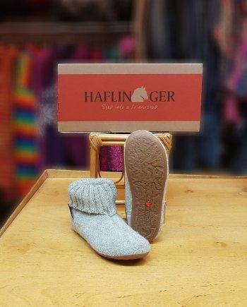 Haflinger Children Slipper Boot Karlo - Stone Grey