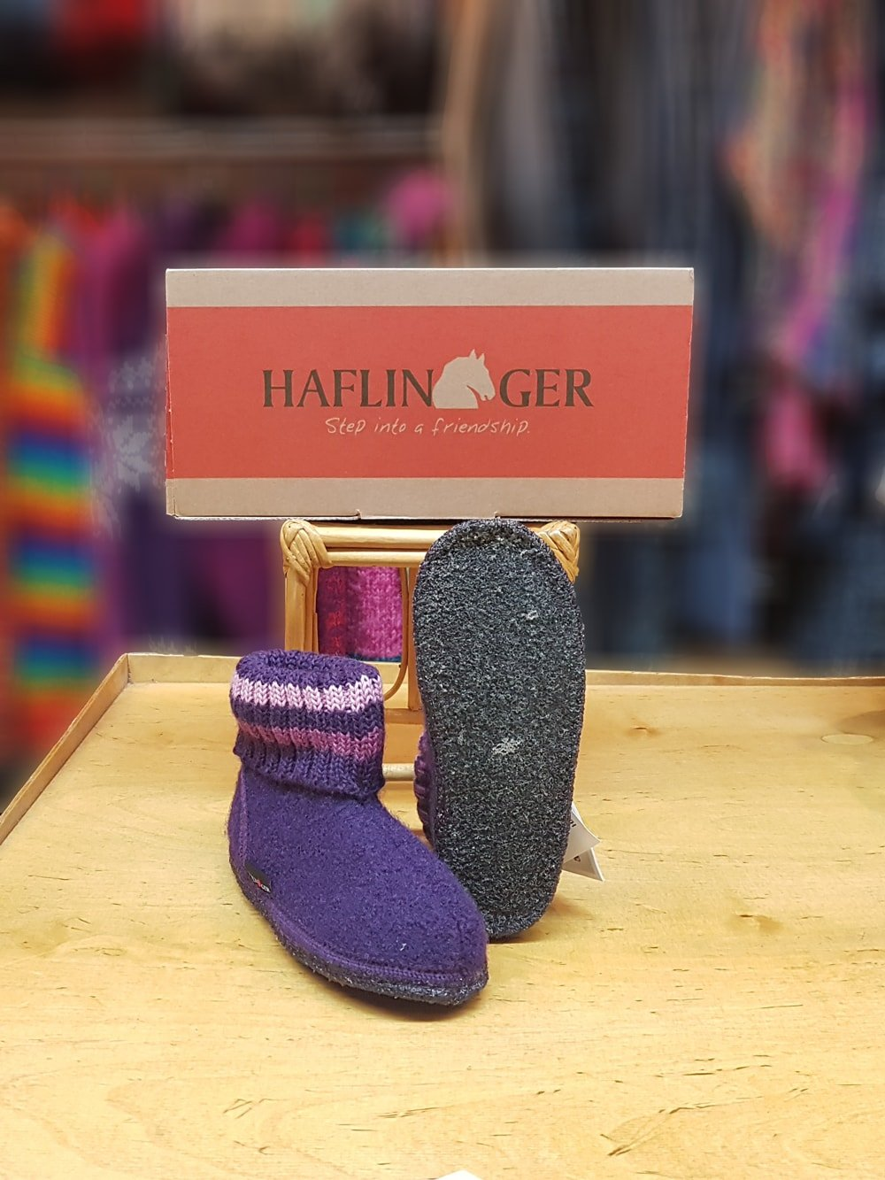 19bc141ddd4 Haflinger Childrens Slipper Boot Paul Violet - Salago