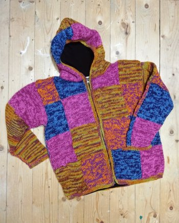 Himalayan Knitted Cardigan with hood