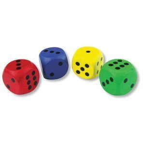 Giant Coloured Wooden Dice by Bigjigs