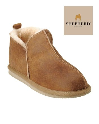 Shepherd Annie/Anton Unisex Hard Sole Slipper Antique Cognac
