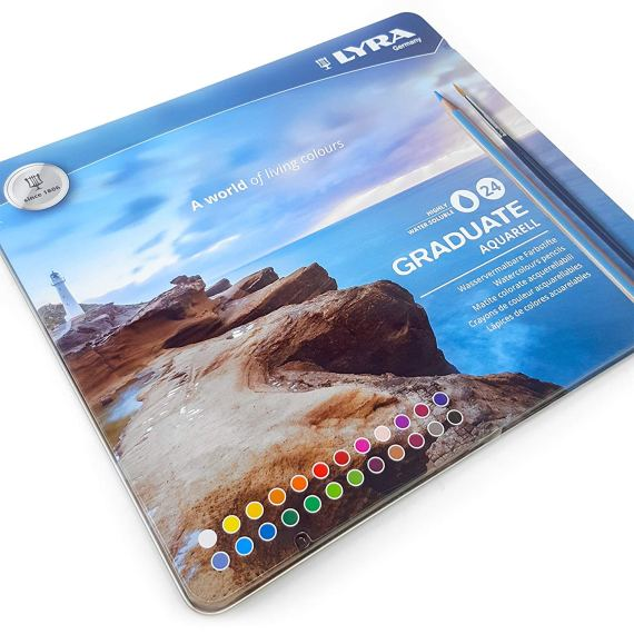 Lyra Graduate Aquarell 24 Tin Set