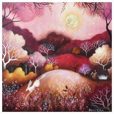 Rose Moon Card bhy Heart of a Garden