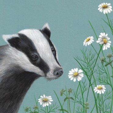 Badger Card by Heart of a Garden