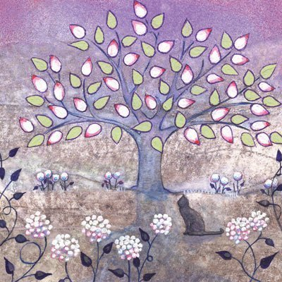 Cat And The Tree Card