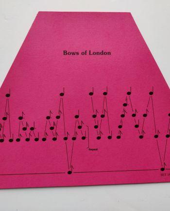 Brows of London Music Sheet
