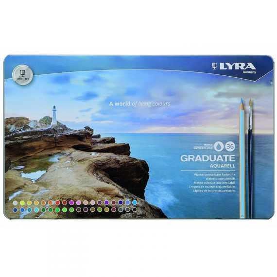 Lyra Graduate Aquarell 36 Tin Set