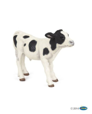 Papo Black and White Calf, Figurine