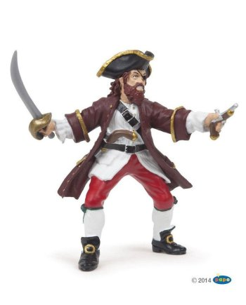 Papo Red Barbarossa Pirate, Figurine