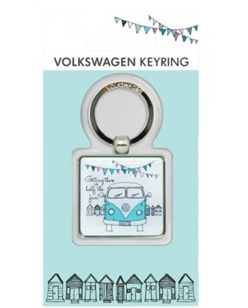 VW Getting There Campervan Keyring