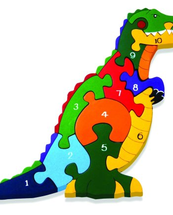 Number T-Rex Wooden Puzzle