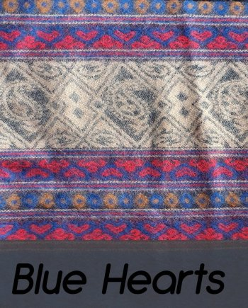 Yak Wool Blue Hearts Shawl