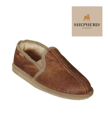 Shepherd Slipper Bosse Antique Cognac, Hard Sole