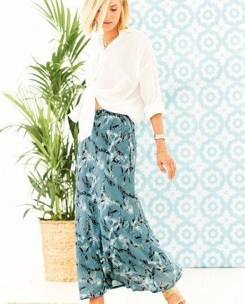 Sirocco Print Maura Skirt - Teal
