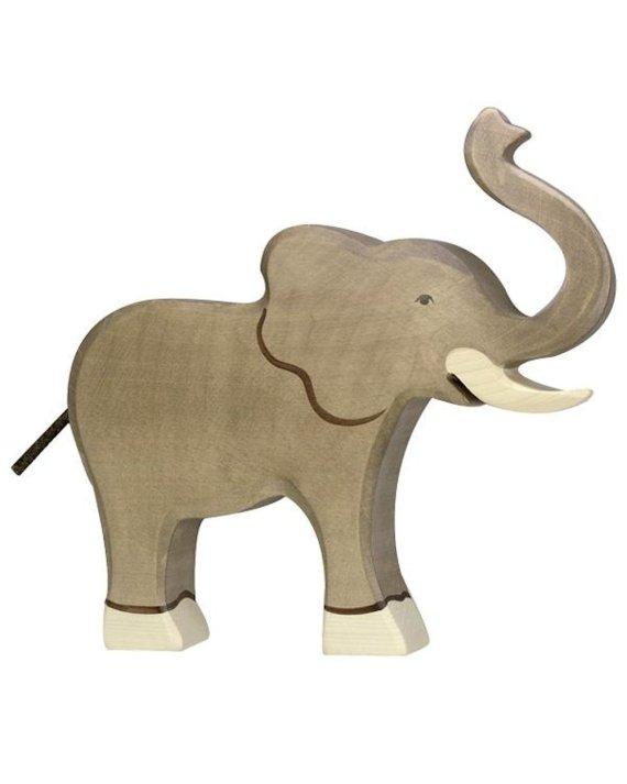 Holztiger Elephant Large Trunk Up