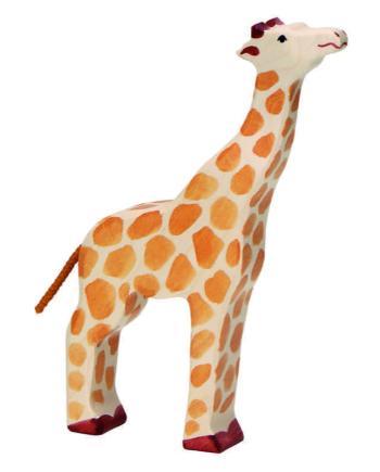 Holztiger Giraffe Head Raised