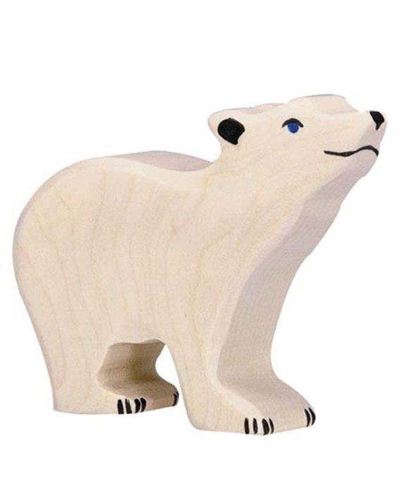 Holztiger Polar Bear Small Head Raised