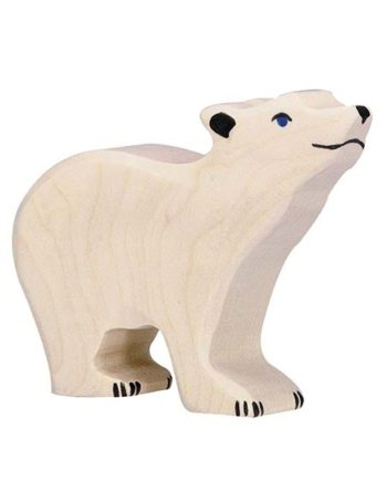 Holztiger Polar Bear Small Head Raised
