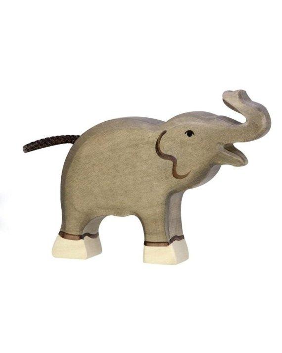 Holztiger Elephant Small Trunk Raised