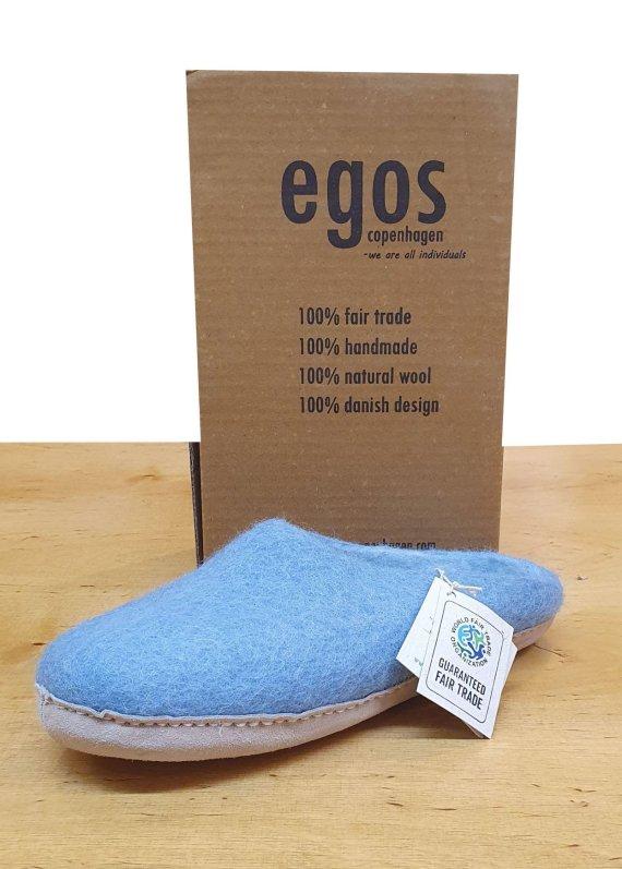 Egos Pale Blue Mule Slipper