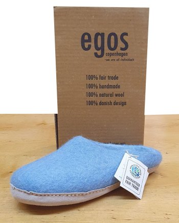 Egos Pale Blue Mule Slipper