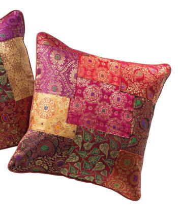 Namaste Brocade Patchwork Cushion Cover