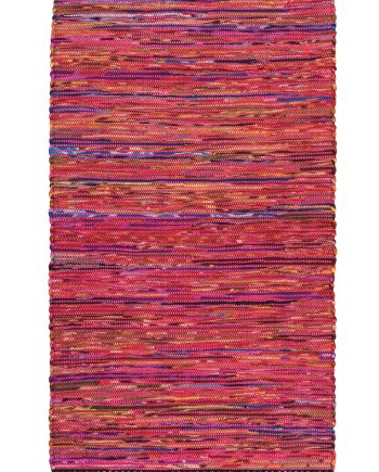 Namaste Recycled Cotton and Fleece Chindi Rug 90 x 150cm - Pink