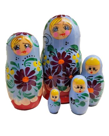Russian Doll Set 5 pieces Traditional