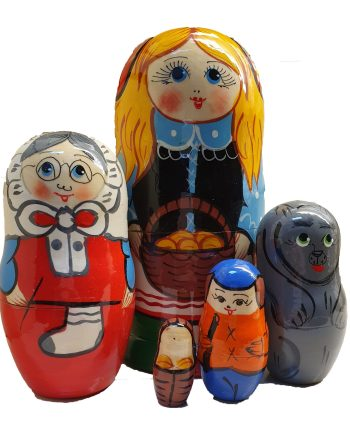 Russian Doll Set 5 pieces Red Riding Hood